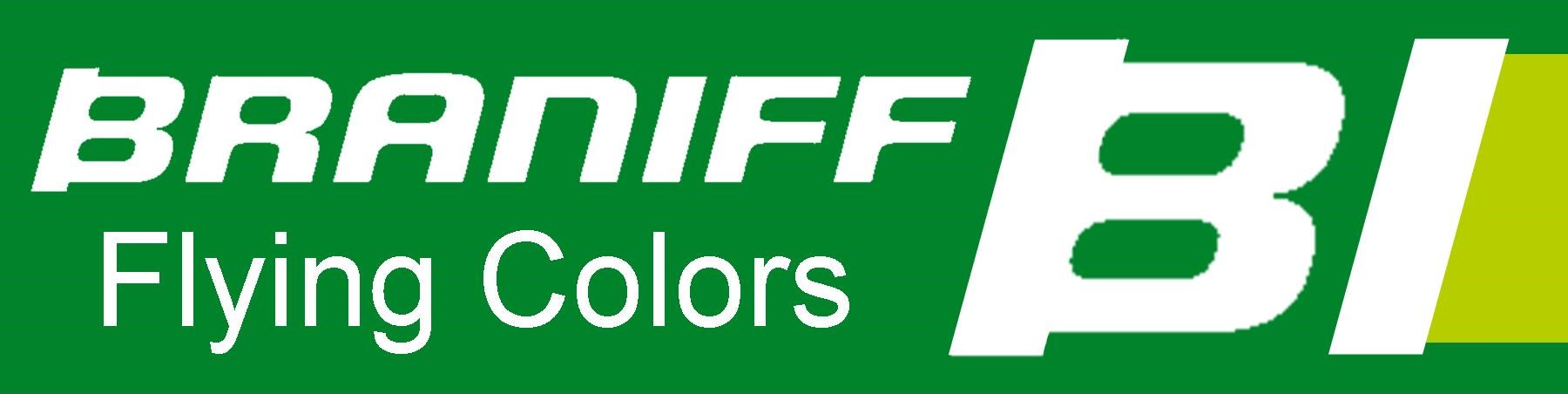 Braniff - Flying Colors - Green/Olive