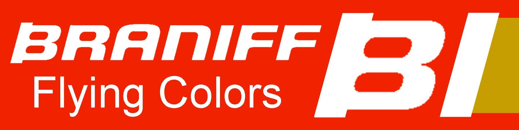 Braniff - Flying Colors - Red/Aztec Gold